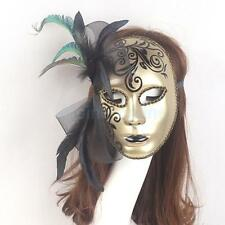 Masquerade Ball Masks Flower and Feather Venetian Ball Carnival Fancy Dress Mask