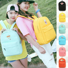 Women Girl Cute Embroidery Backpack School Travel Bag Canvas Small Rucksack New
