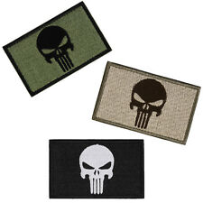 New Trendy 2 Sided Embroidery Trim Patch US Army Morale Armbands Skull Badge 1Pc