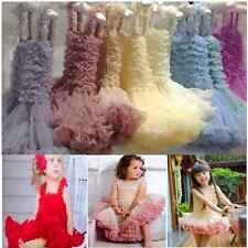 Girl Flower Princess Dress Kid Baby Party Wedding Lace Tulle Tutu Pageant Dress