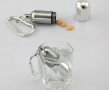 Keychain Container Bottle Holder Medicine Waterproof Pill Box Mini Aluminum Hot