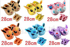 Pokemon Eevee Family Woman Winter Home Slippers Plush Stuffed Slippers