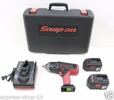 """Snap-On CT4850H0 1/2"""" Impact Wrench 18V W/ 2 Battery, Charger & Carrying Case"""