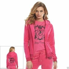 Juicy Couture Crest Embellished Velour Tracksuit & Separates, Pink-Magenta NWT