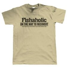 Fishaholic Mens Funny Fishing T Shirt - Gift for Dad Fathers Day