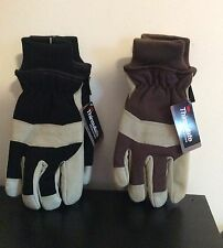 Terra Thinsulate 3M Winter Pigskin Leather Gloves Black Or Brown M / Lg. / X-Lg
