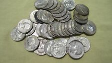 90 Percent Lot of 4 *** Silver Washington Quarters ** 1950-1964 Face 1.00 # 82