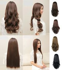 Hair extension hair clip-in wavy smooth Extensions Hair piece Hair thickener