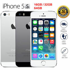 "Apple iPhone 5S-16GB 32GB GSM LTE""Factory Unlocked"" Smartphone Gold Gray Silver"