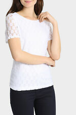 NEW Regatta Essential Lace Short Sleeve Top White