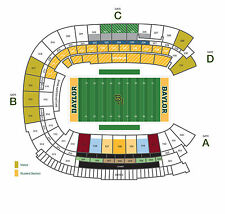2 of 6 Baylor Bears Lower Level Football Season Tickets - All 6 Games