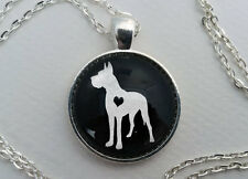 Custom Great Dane Necklace, Glass Dome Jewelry, Dog Lover Gift Pet Memorial Crop