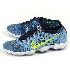 Nike Wmns Flyknit Zoom Agility Blue Glow/Volt-Navy-White Running 2016 698616-404