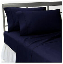 1000 THREAD COUNT,EGYPTIAN COTTON,4PCs SHEET SET EXTRA DEEP POCKET,NAVY BLUE