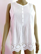ladies Tommy Hilfiger grandad white pleated Blouse,
