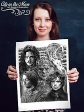Game of Thrones Original Sketch Prints - Poster - Gifts For Guys - FREE Shipping