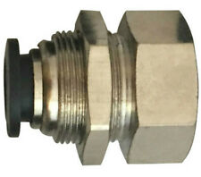 """5/32"""" OD x 1/4"""" Bulkhead Female NPT Push to Connect One Touch Air Fitting Brass"""