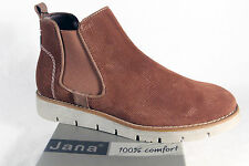 Jana Ankle Boots, Boots, Slippers, Boots Real Leather brown new