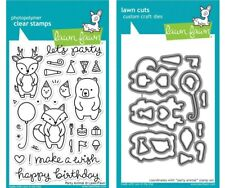 Lawn Fawn Stamps OR Die Set - Party Animal (LF893 Stamps) (LF894 Die)