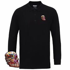 James Tim Booth La Petite Mort Long Sleeve Polo Shirt - 100% Cotton