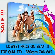 "YOUR PERSONAL PHOTO ON CANVAS 46"" x 30"" - DEEP 28MM FRAME !  PERFECT GIFT !"