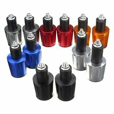 """One Pair 7/8"""" MOTORCYCLE ANTI VIBRATION HANDLE BAR END PLUG GRIP ENDS CAPS 22MM"""