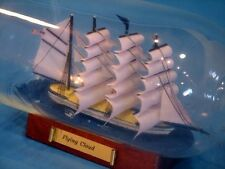 Handcrafted Nautical Decor Flying Cloud Ship in a Bottle, Blue, 11""