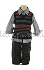 NWT Deux par Deux Neige Boys Three Piece Set with Vest Shirt Pants 5 6 7 8 10y