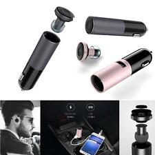New Awei 2in1 Mini Bluetooth Headset Headphone Earphone Phone & USB Car Charger