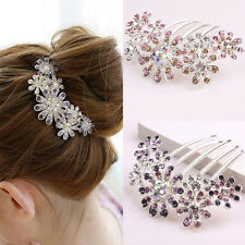 Women Wedding Bridal Flowers Crystal Hairpin Hair Clips Bridesmaid Hair Plug Hot