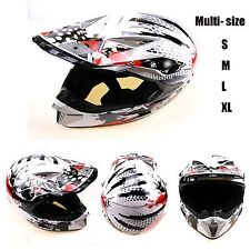 Motocross Dirt Bike Adult MX Helmet Motorbike/ATV/Quad/Off-road S/M/L/XL