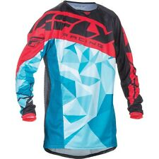 2017 Fly Racing Kinetic Crux YOUTH MX Motocross Jersey - Teal / Black / Red