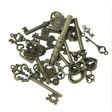 Mixed Key/Skull/Angel Charms Antique Plated Alloy Pendant Jewelry Findings DIY