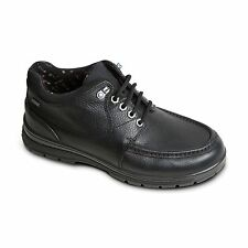 Padders CREST Mens Leather Extra Wide Fit Waterproof Outdoor Walking Shoes Black