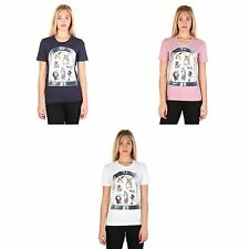 Love Moschino Womens/Ladies Cotton Rich Short Sleeve T-Shirt With People In Mirr