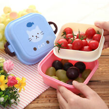 Cartoon Lunch Box for Kids Bento Box Food Container 2 Tier Storage Box Lunchbox