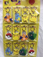 Lot Pikachu Pokemon Ball Key Chains Metal 3D Stereo Key Ring Party Gifts O-55