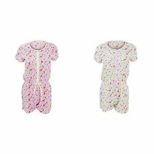 Womens/Ladies Short Sleeve Swallow Pattern Pyjama Playsuit