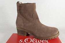 S.Oliver Women'S Boots, Ankle Boots, Boots Real Leather pepper 25433 NEW