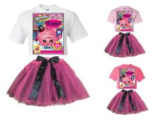 """""""Shopkins"""" Personalized White or Pink T-Shirt & Pink&BlackTutu-NEW"""