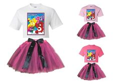 """""""Care Bears Rainbow"""" Personalized White or Pink T-Shirt & Pink&BlackTutu-NEW"""