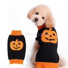 Pet Dog Cat Puppy Padded Halloween Pumpkin Sweater Warm Clothes Apparel Costume