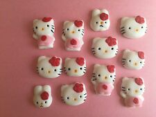 Hello Kitty Edible Sugar Cupcake Topper Girl Birthday Cake Decoration
