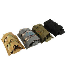 Tactical Hunting Molle Single Rifle Pistol Magazine Mag Pouch Top Bag