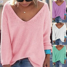 New Fashion Women Sexy Long Sleeve Knitted Pullover Loose Sweater Tops Knitwear