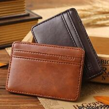 New #A Luxury Magic Wallet Money Clip Credit Card Holder ID Business Men leather