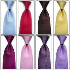 Mens Classic Striped Ties WOVEN JACQUARD Silk Suits Tie Necktie Fashion