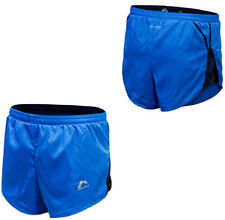 More Mile More-Tech Race Split Leg Mens Running Shorts - Blue