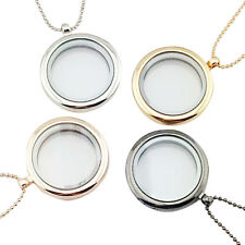 Floating Charm Living Memory Glass Round Locket Charms Pendant Necklace   ST