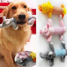 Cute Dog Pet Puppy Plush Sound Chew Squeaker Squeaky Pig Elephant Duck Toys